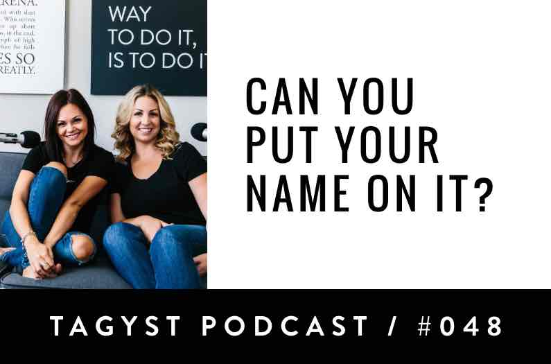 No 48: Can you put your name on it?
